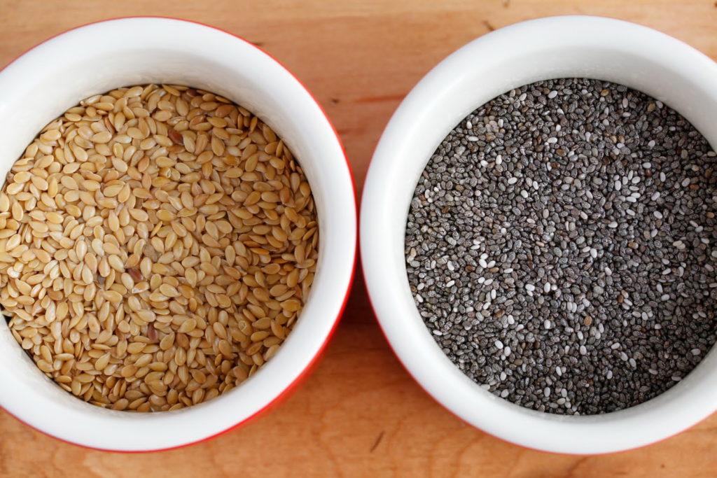 Семена льна и чиа сравнение